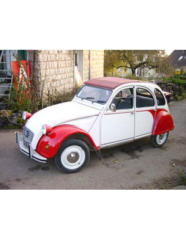 Autocollants 2cv Dolly rouge et blanche